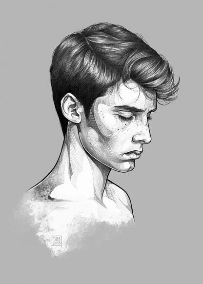Gutten illustrasjon av Thea Nordal