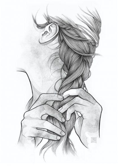 Printet illustrasjon av Aurora