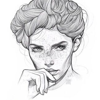 Print illustrasjon av Leonora